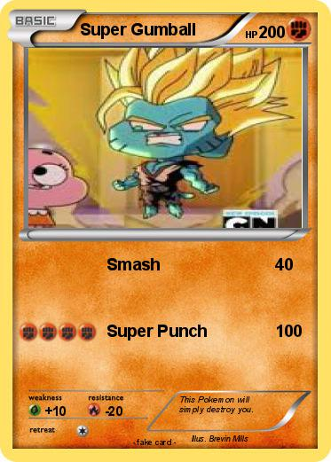 Pokémon Super Gumball 1 1 Smash My Pokemon Card