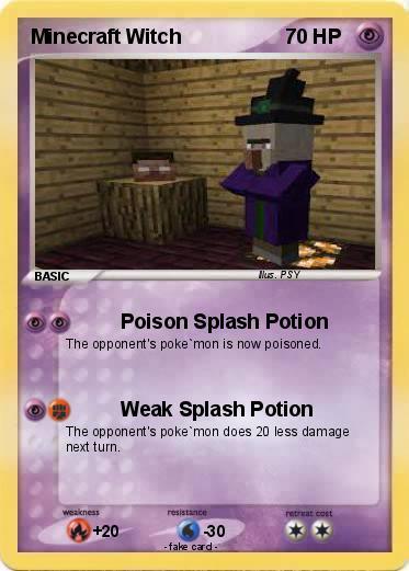 Pok mon Minecraft Witch 1 1 Poison Splash Potion My