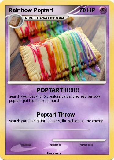 pokémon rainbow poptart 1 1 poptart my pokemon card