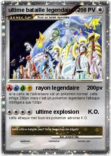 Pok mon ultime bataille legendaire rayon legendaire - Carte pokemon legendaire ex ...