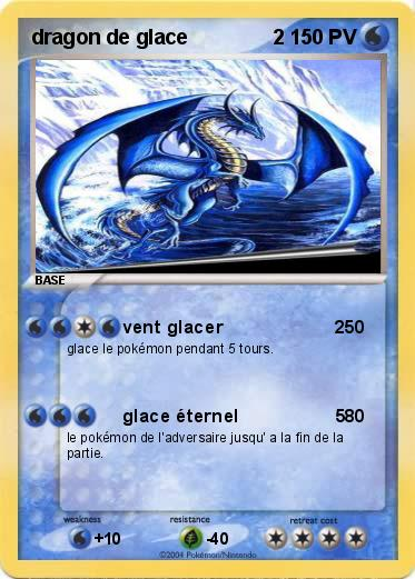 Pok mon dragon de glace 2 1 1 vent glacer 2 ma carte pok mon - Carte pokemon dragon ...