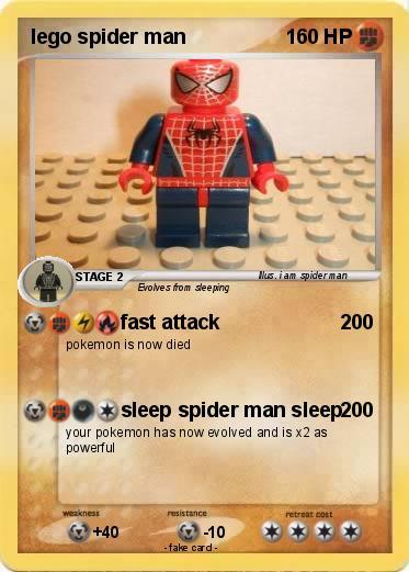 Pokémon Lego Spider Man 1 1 Fast Attack My Pokemon Card