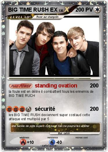 Pokemon Big Time Rush Ex Standing Ovation Ma Carte Pokemon