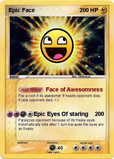 pok233mon epic face 1062 1062 face of awesomness my