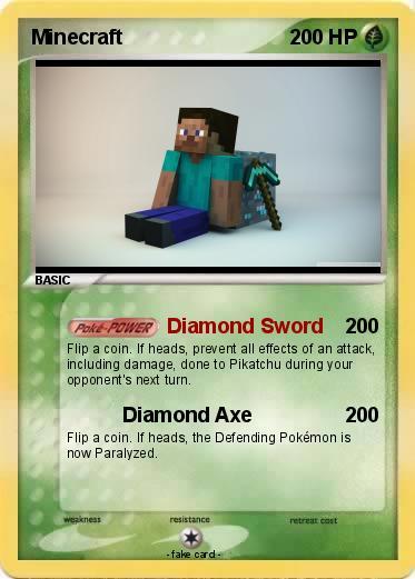pok233mon minecraft 1042 1042 diamond sword my pokemon card