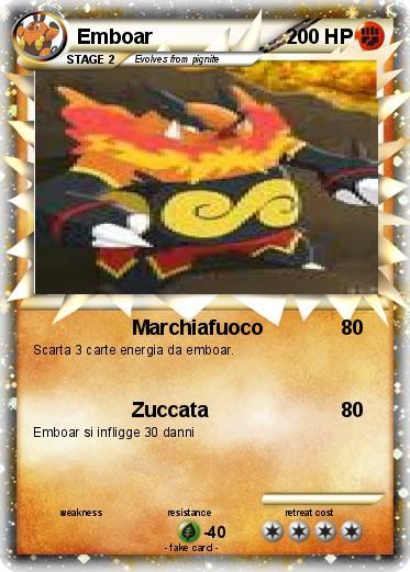 Pokémon Emboar 223 223 - Marchiafuoco - My Pokemon Card