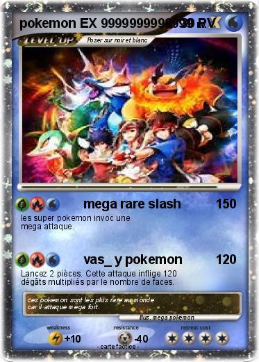 Pok mon pokemon ex 9999999999999 9999999999999 mega rare - La plus forte carte pokemon du monde ...