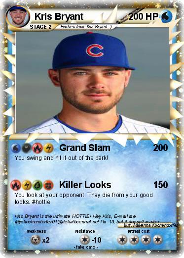 WNpGUraS820R pokémon kris bryant 3 3 grand slam my pokemon card