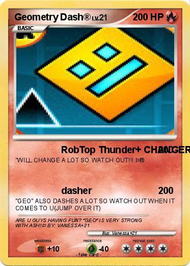 Pokémon Geometry Dash 8 8 - RobTop Thunder+ CHANGER - My Pokemon Card