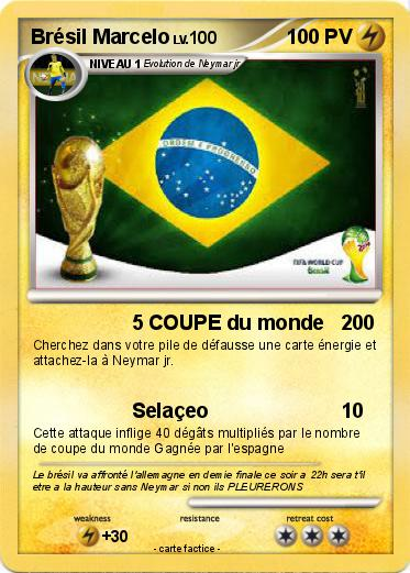 Carte Identite Bresil.Pokemon Bresil Marcelo 5 Coupe Du Monde Ma Carte Pokemon