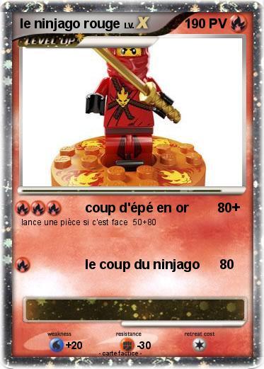 Pok mon le ninjago rouge coup d 39 p en or 80 ma carte - Carte ninjago ...
