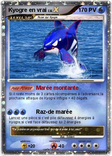 Pok mon kyogre en vrai 1 1 mar e montante ma carte pok mon - Vrai carte pokemon ex a imprimer ...