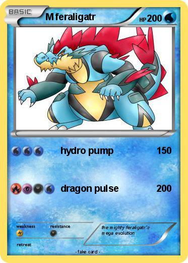 Pokémon M feraligatr 14 14 - hydro pump - My Pokemon Card Shiny Feraligatr Card