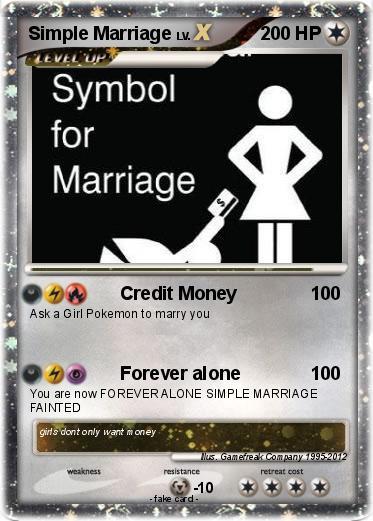Pokmon Simple Marriage Credit Money My Pokemon Card