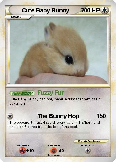 pokémon cute baby bunny fuzzy fur my pokemon card