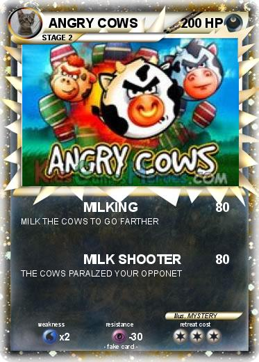 Pokémon ANGRY COWS - MILKING - My Pokemon Card