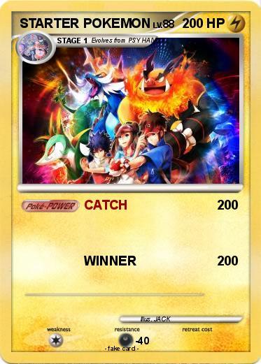 Pokémon STARTER POKEMON 20 20 - CATCH - My Pokemon Card