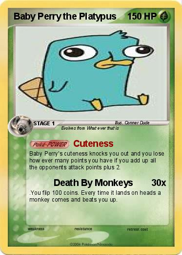 Pok mon Baby Perry the Platypus