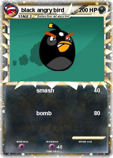 Pokémon black angry bird 5 5 - smash - My Pokemon Card