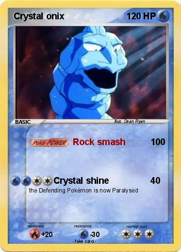 Pokémon Crystal onix 55 55 - Rock smash - My Pokemon Card