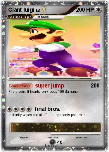 Pokémon Giant Luigi 8 8 Super Jump My Pokemon Card