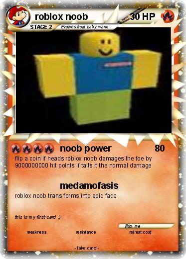 Pokémon Roblox Noob 5 5 Noob Power My Pokemon Card