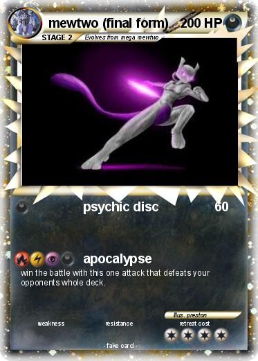 Pokémon mewtwo final form - psychic disc - My Pokemon Card