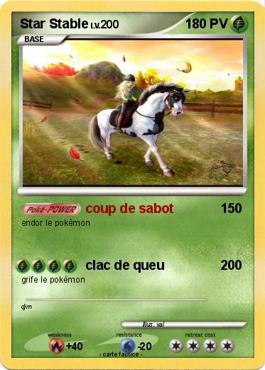 Pokemon Star Stable Coup De Sabot Ma Carte Pokemon