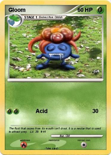 Pokémon Gloom 12 12 - Acid - My Pokemon Card