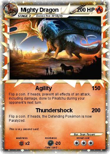 pokémon mighty dragon 14 14 agility my pokemon card