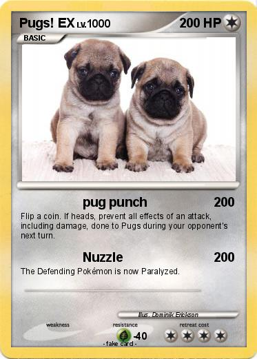Pokémon Pugs Ex Pug Punch My Pokemon Card