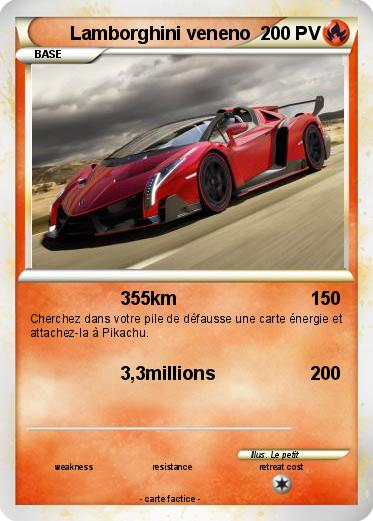 Pok mon lamborghini veneno 13 13 355km ma carte pok mon - Lamborghini a colorier ...