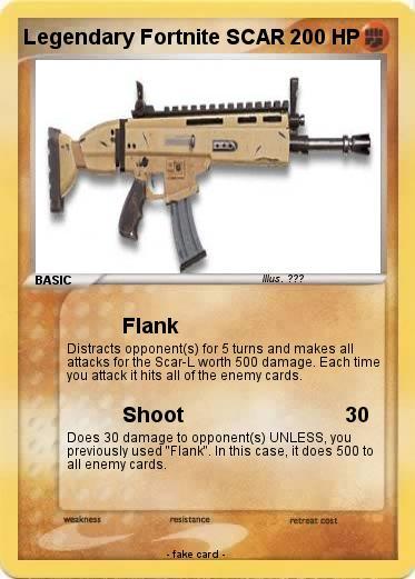 Pok 233 Mon Legendary Fortnite Scar Flank My Pokemon Card