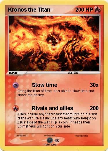 Pokémon Kronos the Titan - Stow time - My Pokemon Card