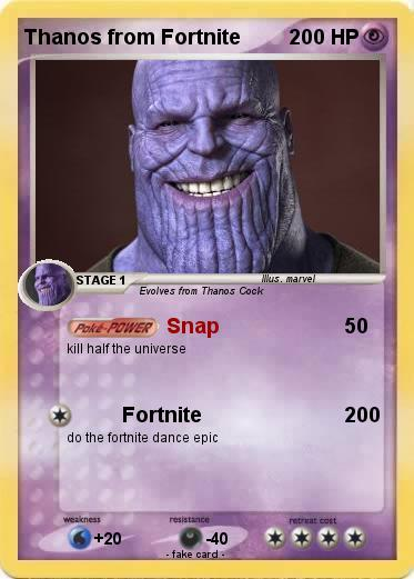 Pok 233 Mon Thanos From Fortnite Snap My Pokemon Card