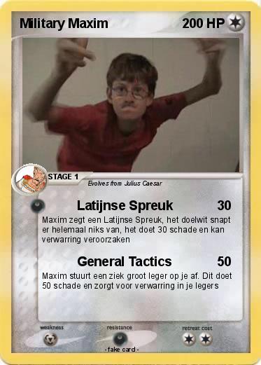 leger spreuken Pokémon Military Maxim   Latijnse Spreuk   My Pokemon Card leger spreuken