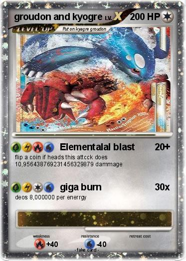 Kleurplaten Pokemon Ex.Pokemon Groudon And Kyogre 3 3 Elementalal Blast My Pokemon Card
