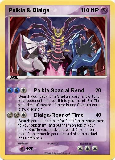 Pokémon Palkia Dialga 7 7 - Palkia-Spacial Rend - My ...