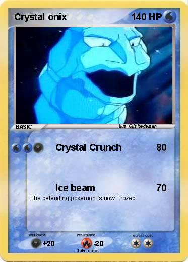 Pokémon Crystal onix 5 5 - Crystal Crunch - My Pokemon Card