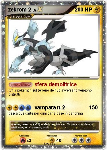 Favori Pokémon zekrom 2 46 46 - sfera demolitrice - My Pokemon Card NA57