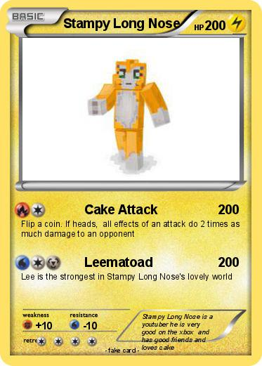 Pokmon Stampy Long Nose 7 7 Cake Attack My Pokemon Card