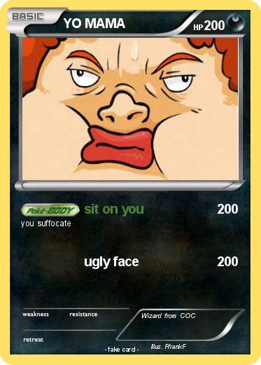 pokémon yo mama 381 381 sit on you my pokemon card
