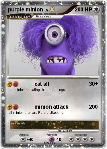 Pok 233 Mon Purple Minion 8 8 Eat All My Pokemon Card
