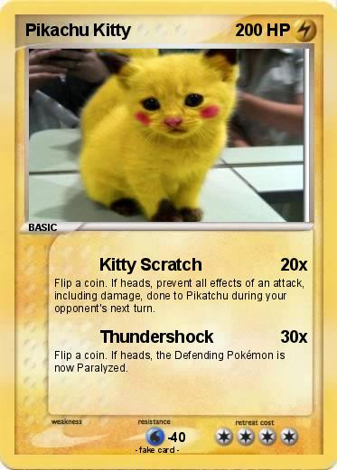 pokémon pikachu kitty 10 10 kitty scratch my pokemon card