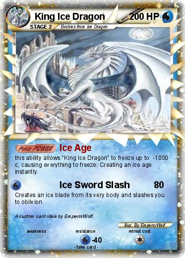 Pokémon King Ice Dragon - Ice Age - My Pokemon Card