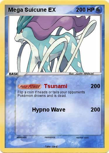 pok233mon mega suicune ex tsunami my pokemon card