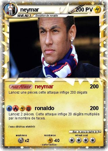 Coloriage Foot A Imprimer Neymar.Pokemon Neymar 73 73 Neymar Ma Carte Pokemon