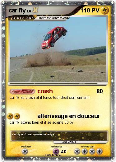 Pok mon car fly crash ma carte pok mon - Coloriage cars accident ...