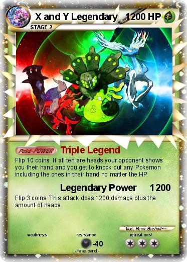 Pokémon X and Y Legendary 1 1 - Triple Legend - My Pokemon Card