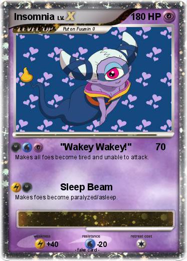 pokémon insomnia wakey wakey my pokemon card
